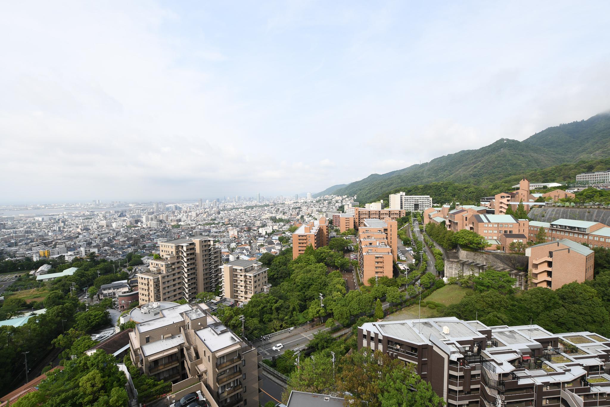 六甲山系の景色