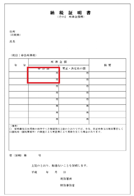 納税証明(その2)