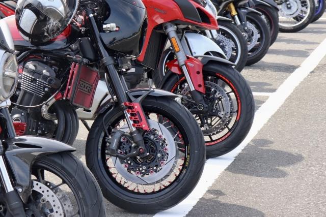UR賃貸のバイク置き場